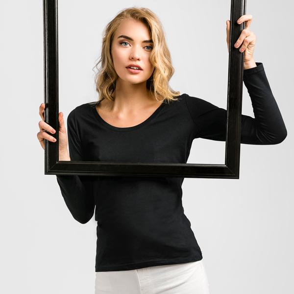 30126.99-XXL<br> BUCHAREST WOMEN. Women's long sleeve t-shirt
