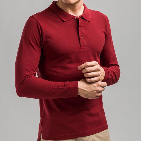 30141.19-S<br> BERN. Men's long sleeve polo shirt