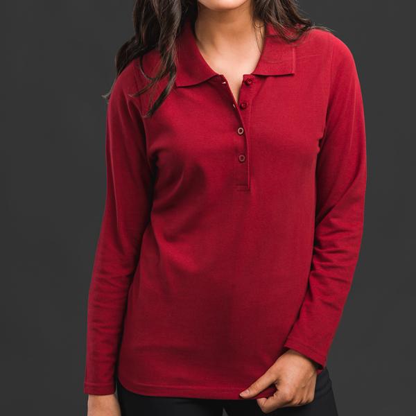 30145.03-XXL<br> BERN WOMEN. Women's long sleeve polo shirt