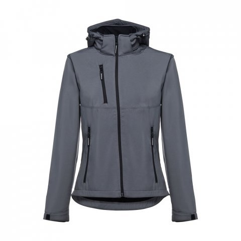 30181.13-XXL<br> ZAGREB WOMEN. Women's softshell with removable hood