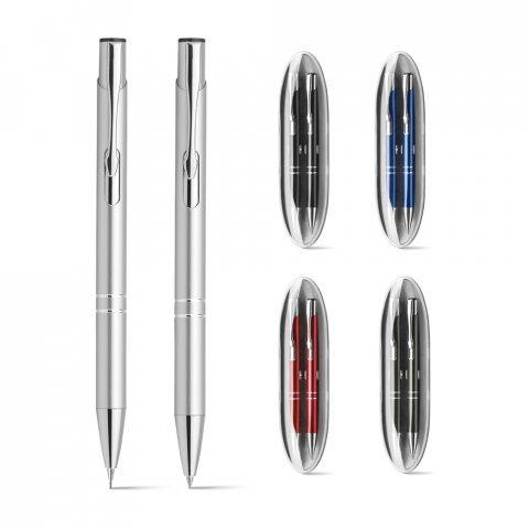 91649.47<br> BETA SET. Ball pen and mechanical pencil set