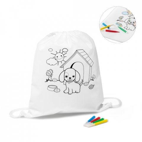 92619.06<br> DRAWS. Children's colouring drawstring bag